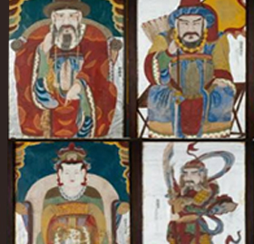 Paintings of Shamanistic Spirits in the Bugundang Shrine, Dangin-dong